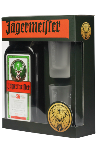 Ликер Jagermeister 0.7л с рюмками 1