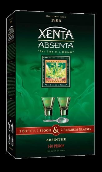 Абсент Xenta 0,7л (набір подарунковий)