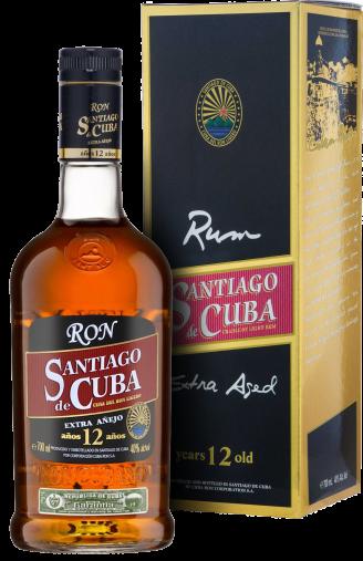 Ром Santiago de Cuba Extra Anejo 12 YO 0.7л (в коробці) 0 магазин склад winewine