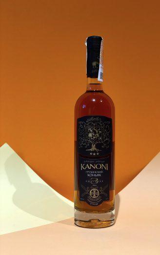 Грузинський коньяк Kanoni 3 роки 0,5л - магазин склад wine wine