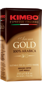 Кава мелена Kimbo Aroma Gold 100% Arabica 250 г