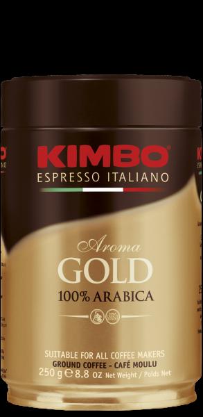 Кофе молотый Kimbo Aroma Gold 100% Arabica 250г (ж/б)