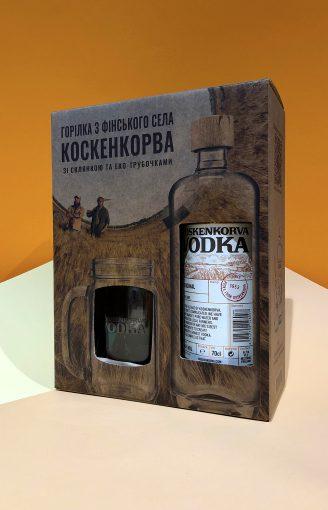 Набір Koskenkorva Original (зі стаканами та трубочоками) - магазин склад winewine